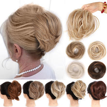 Load image into Gallery viewer, AOSI Girl Curly Scrunchie Chignon Rubber Band Brown Hairpiece Synthetic Fake Hair Extension Messy Bun Ponytails For Women Mother - My Little Decors.com