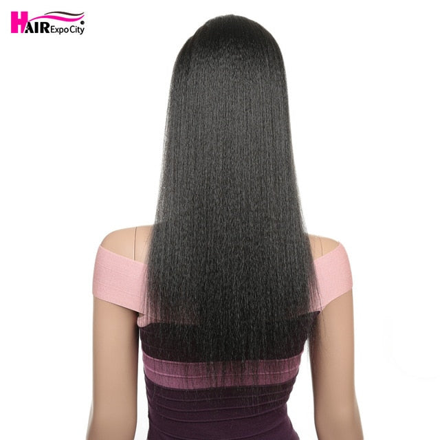 24''Fake Hair Straight Ponytail With Bang Piece Clip in Ponytail Hair Extensions Hairpieces Pony Tail For Women Hair Expo City - My Little Decors.com