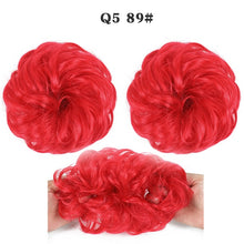 Load image into Gallery viewer, Synthetic Bun Extensions Curly Messy Bun Hair Scrunchies Elegant Chignons Wedding Hair Piece for Women and Kids - My Little Decors.com