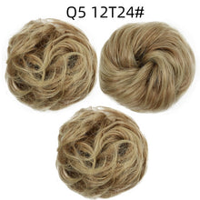 Load image into Gallery viewer, Elastic band with hair messy bun scrunchie chignon with elastic band messi hairpieces donut for women - My Little Decors.com