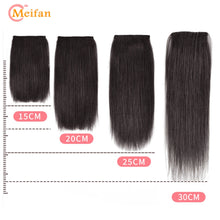 Load image into Gallery viewer, MEIFAN Clips In Hair extension Hair Pads Straight Hair Lining Synthetic Natural Fake Hairpiece for Women Cover for Hair Pieces - My Little Decors.com