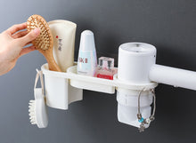 Load image into Gallery viewer, Hands Free Hair Dryer Holder Storage Box Curling Iron Shelf For Bathroom Organizer Storage Rack Bathroom Accessories Set Home - My Little Decors.com