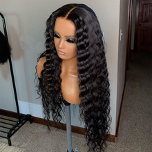 Load image into Gallery viewer, Deep Wave Wig Front Lace Human Hair Wigs For Women Pre Plucked Human Hair Wig Natural Hairline LINMAN - My Little Decors.com