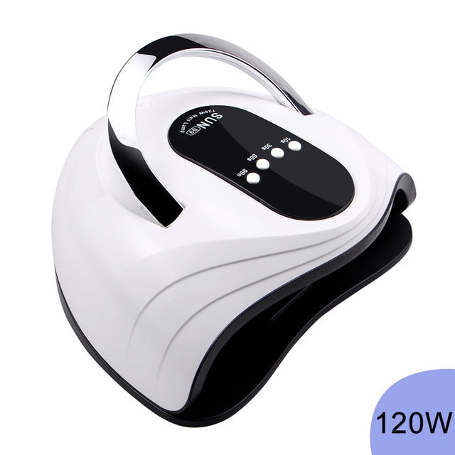 120W LED Nail Lamp Nail Dryer Dual hands 42PCS LED UV Lamp For Curing UV Gel Nail Polish With Motion Sensing Manicure Salon Tool - My Little Decors.com