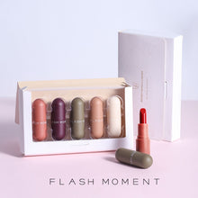 Load image into Gallery viewer, Flash Moment 5 Colors Cute Mini Matte Lipstick Set for Lips Makeup Long Lasting Waterproof Mate Tint Lip Kit Lip Gloss Cosmetics - My Little Decors.com
