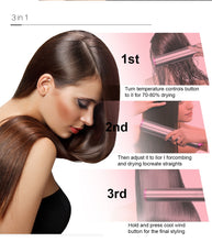 Load image into Gallery viewer, 3 In 1 hot-air brush hair Salon straightener fast Hair Dryer hot air comb straightener hair comb Hairdryer Hairstyling Tools - My Little Decors.com