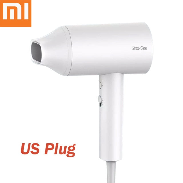 XIAOMI MIJIA Anion Hair Dryer Showsee A1-W Professinal Quick Dry Hair Dryer Mihome 1800W Hair Care Portable Hairdryer Diffuser - My Little Decors.com