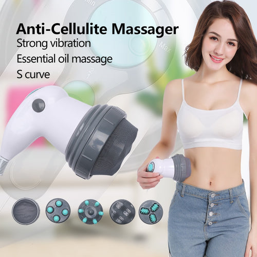 NEW Electric Vibration Full Body Massager Slimming Kneading Noiseless Massage Roller for Waist Losing Weight - My Little Decors.com