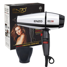 Load image into Gallery viewer, ENZO Professional Hair Dryer Brush 8000W Negative Ionic Blow Dryer Hair Brush Powerful Salon Hairdryer Diffuser for Hair Dryer - My Little Decors.com
