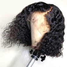 Load image into Gallery viewer, Kinky Curly Human Hair Wigs Curly Lace Closure Wig Short Curly Bob Wig 4x4 Brazilian Remy Human Hair Wig Perruque Cheveux Humain - My Little Decors.com