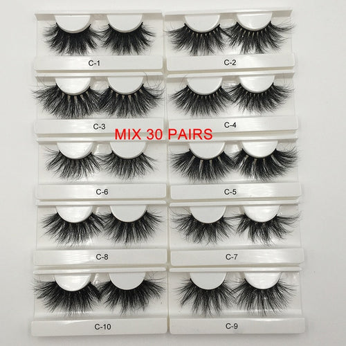 RED SIREN 10-50 pcs 25mm 3d mink lashes Wholesale Lot Bulk 100% Mink Eyelashes Cruelty Freely Natural long Eyelash Makeup Lashes - My Little Decors.com