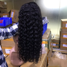 Load image into Gallery viewer, Curly Human Hair Wig Lace Front Human Hair Wigs Water Deep Wave Hd Lace Frontal Wigs For Women Brazilian Full Lace Short Bob Wig - My Little Decors.com