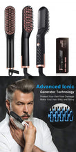 Load image into Gallery viewer, 3 in 1 Multifunctional Hair Straightener Hair Comb Brush Beard Straightener Straightening Comb Hair Curler Quick Hair Styler - My Little Decors.com