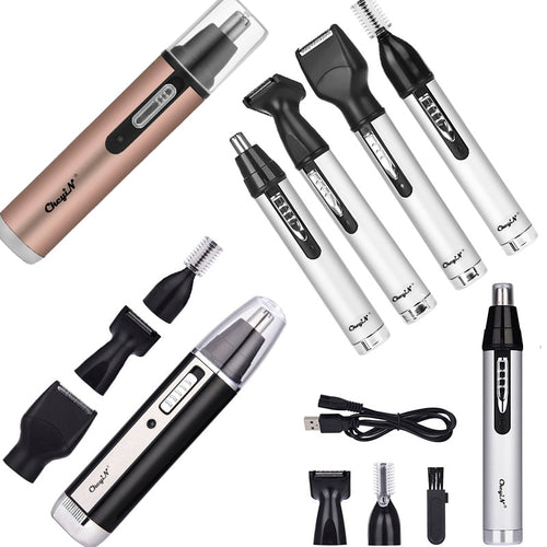 Electric Nose Hair Trimmer Multifunctional Hair Remover Ear Eyebrow Beard Shaver Razor Face Hair Cutter Rechargeable or Battery - My Little Decors.com