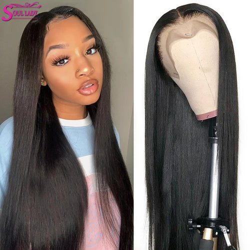 Soul Lady 13x4 Straight Lace Front Wig Brazlian Remy 30 Inch Lace Front Wigs Straight Human Hair Wigs Bone Straight Closure Wig - My Little Decors.com