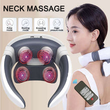 Load image into Gallery viewer, 6 Modes Electric Neck Massager Magnetic Pulse Back Power Control Far Infrared Heating Pain Relief Health Care Neck Relaxation - My Little Decors.com