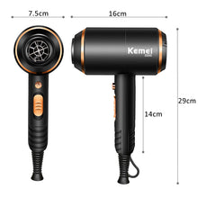 Load image into Gallery viewer, Kemei Ionic Hair Dryer 3 In 1 Strong Power 4000w Blow Dryer Electric 210-240v Professional Hairdressing Equipment - My Little Decors.com