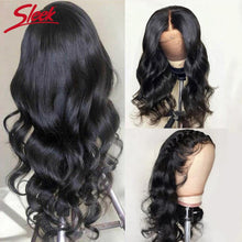Load image into Gallery viewer, Sleek Brazilian Remy 360 Lace Frontal Human Hair Wigs Body Wave 4x4 Lace Closure Wig 13x4 Pre Plucked Lace Front Human Hair Wigs - My Little Decors.com