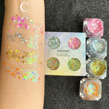Load image into Gallery viewer, 4 Colors Eye Shadow Liquid Mermaid Make Up Eyeshadow Gel Body Face Sequins Glitter Eyes Makeup Cream Festival Cosmetics Tool - My Little Decors.com