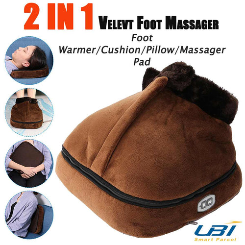 Electric Heated Foot care shoe Warmer Massager insoles tool pad Cosy Unisex Velvet Feet Big Slipper Foot Heat Warm Massage Shoes - My Little Decors.com
