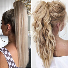 Load image into Gallery viewer, BENEHAIR Fake Ponytail Claw On Ponytail Long Wavy Clip In Hair Extension Hair Synthetic Hairpiece For Women Pony Tail Fake Hair - My Little Decors.com