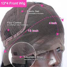 Load image into Gallery viewer, Body Wave Lace Front Wig Human Hair Wigs Pre Plucked Bleached Knots with Baby Hai 13X4 Remy Brazilian Short Bob Body Wave Wig - My Little Decors.com
