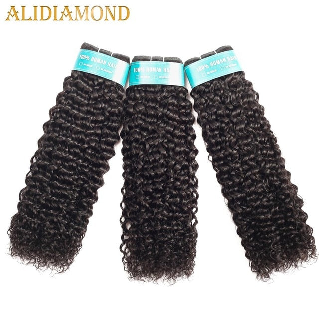 Brazilian Kinky Curly Hair 1/3/4 Bundles Deep Curly Hair Weaves 8-26 Inch Natural Human Hair Thick Bundles Remy Hair - My Little Decors.com