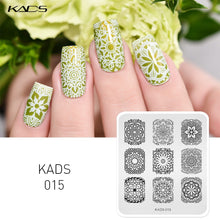 Load image into Gallery viewer, KADS Hot Sale Elegant Flower Design Stainless Steel Nail Art Stencils Nail Polish Printing Plates Beauty DIY Nail Manicure Tools - My Little Decors.com
