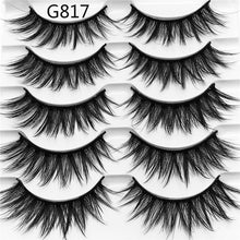 Load image into Gallery viewer, 5 Pairs Luxurious Mink Hair False Eyelashes Thick Curled Full Strip Lashes Eyelash Extension Fashion Women Eyes Natural Makeup - My Little Decors.com