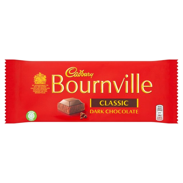 Cadburys Bournville Dark Chocolate 180g - 6.3oz