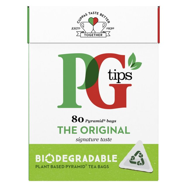PG Tips Pyramid Tea Bags 80 Pack