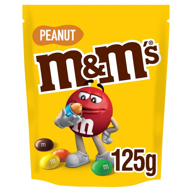 M&M's Peanut Chocolate Pouch 125g - 4.4oz