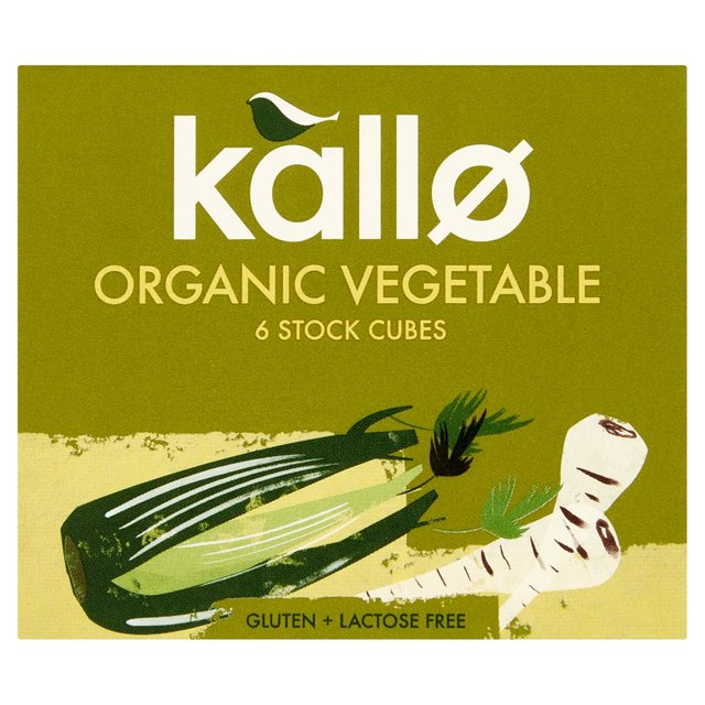 Kallo Organic Vegetable Stock Cubes 6 Pack