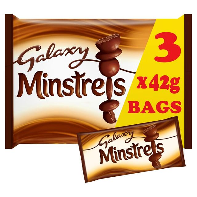 Galaxy Minstrels Chocolate Bags Multipack 3 Pack