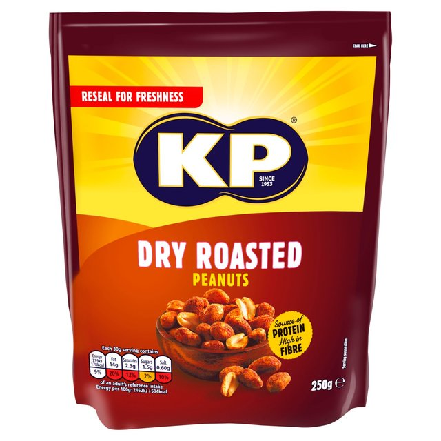 KP Dry Roasted Peanuts 250g - 8.8oz