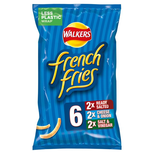 Walkers French Fries Variety Snacks 6 Pack