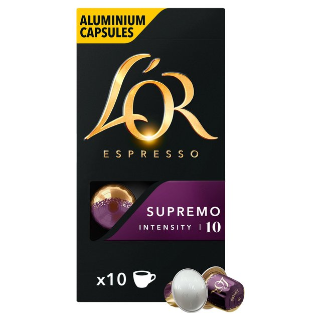 L'OR Espresso Supremo Intensity 10 Coffee Capsules 10 Pack