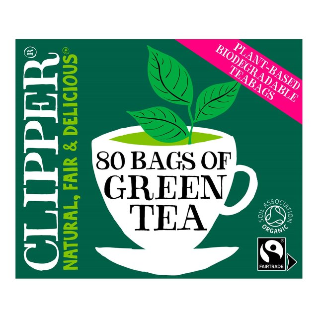 Clipper Organic Fairtrade Green Tea 80 Bags