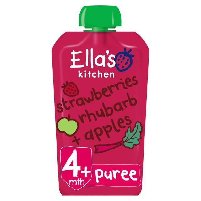 Ella's Kitchen Strawberry, Rhubarb & Apple 120g - 4.2oz