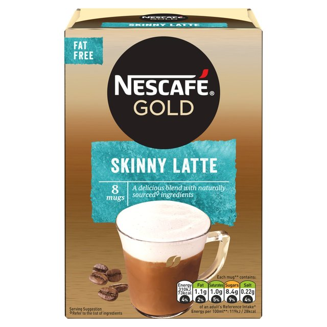 Nescafe Gold Skinny Latte Instant Coffee 8 Sachets
