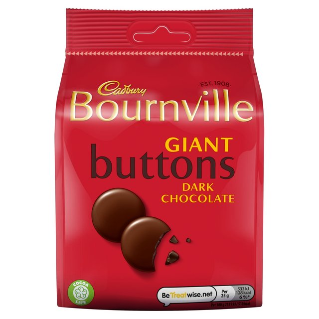 Cadbury Bournville Giant Buttons 110g - 3.8oz