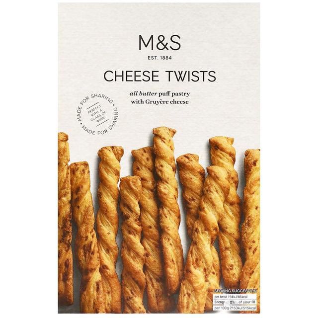 M&S All Butter Cheese Twists 125g - 4.4oz