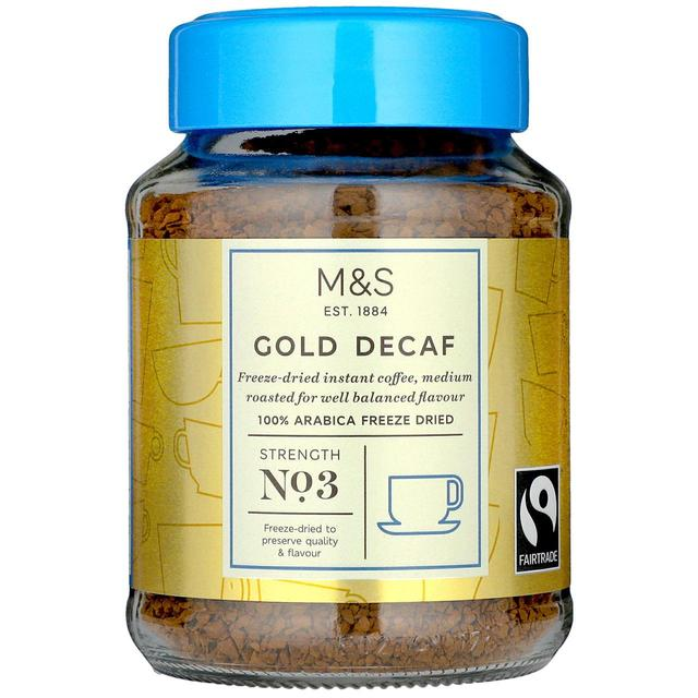 M&S Fairtrade Gold Decaf Instant Coffee 100g - 3.5oz