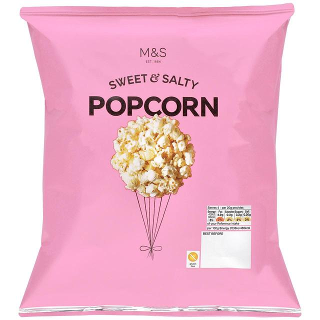 M&S Sweet & Salty Popcorn 80g - 2.8oz