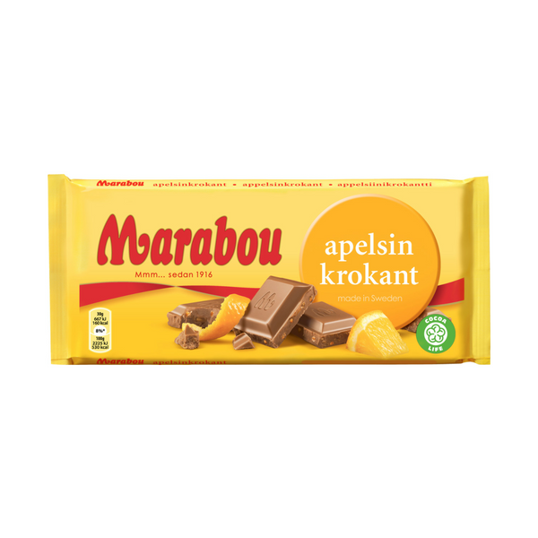 Marabou Milk Chocolate With Orange Crisp 200g - 7oz