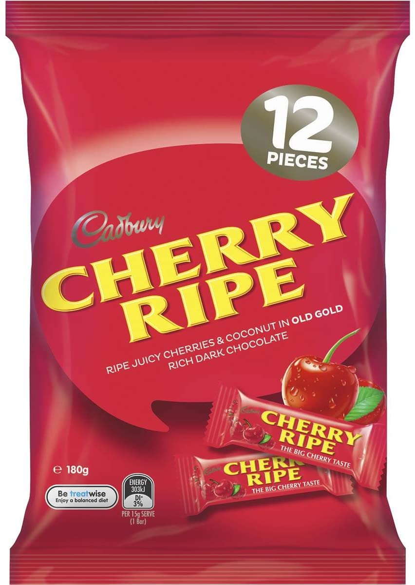 Cadbury Cherry Ripe Sharepack 180g - 6.3oz