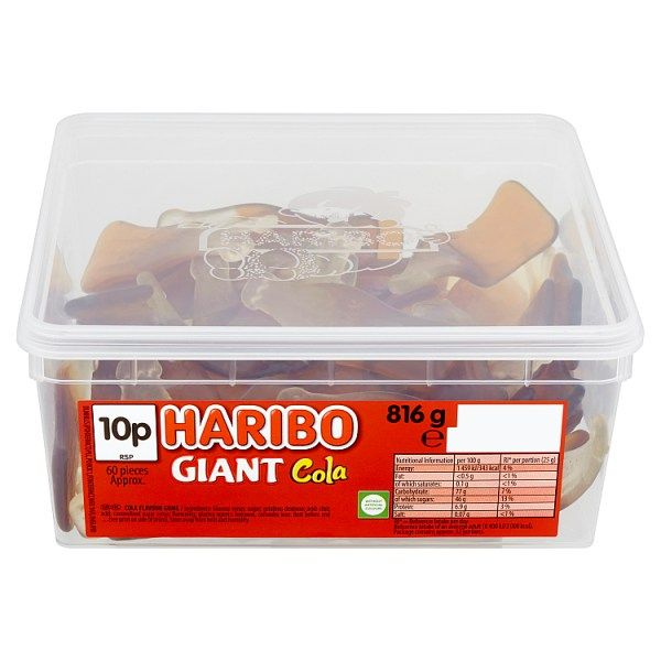 Haribo Giant Cola Bottles 816g - 28.78oz