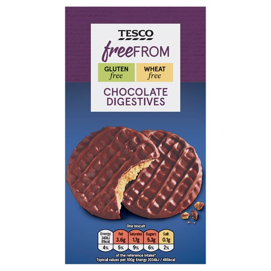Tesco Free From Chocolate Digestives 200g - 7oz