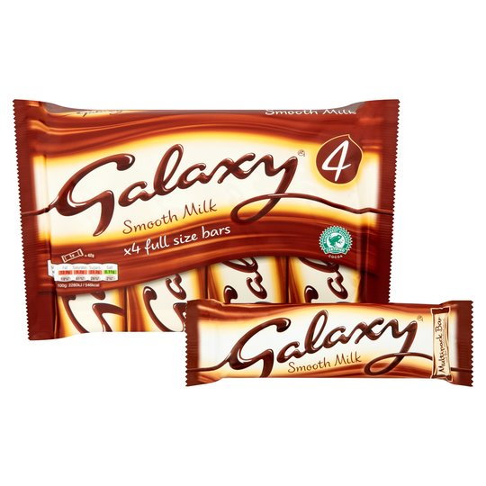Galaxy Smooth Milk Chocolate Bars 4 Pack