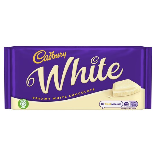 Cadbury Creamy White Chocolate Bar 180g - 6.3oz